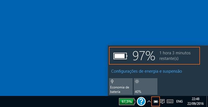 ícone da bateria do windows sumiu da barra?