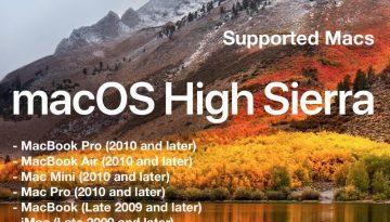 macos-high-sierra-supported-mac-list