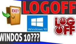 Como fazer logoff no Windows 10