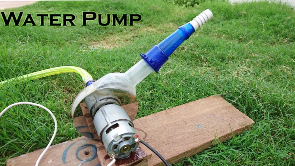 aprenda a fazer uma bomba de água usando partes de um disco rígido e garrafa pet