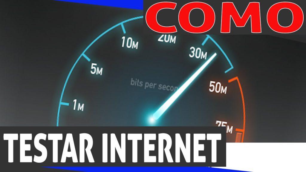 como testar velocidade de conexão de internet?