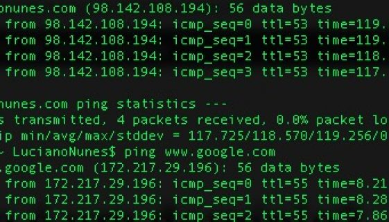 resultado ping ip dominio