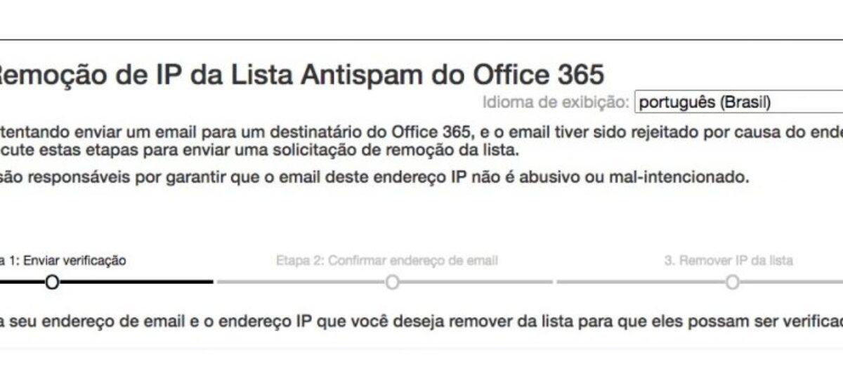 Como desbloquear envio de e-mail para Hotmail ou Office 365
